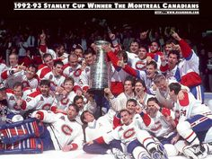 1992-1993 Stanley Cup Winner The Montreal Canadiens