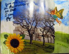 Day 3, 2013 #30DOC, @createstuff  Give Me Wings Art Journal spread