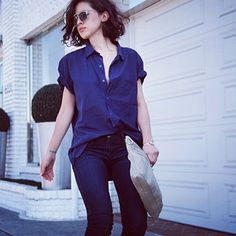 Because cool jeans should always be accompanied by a cool attitude. @karla_deras #thedenimshop