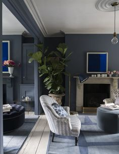 Fresh Dark Living Room For Embrace The Magic Of Dark Living Rooms Dark Living Room Embrace The Magic Of Dark Living 67 Dark Grey Living Room Furniture Living Room Paint, Living Room Decor, Living Room Wooden Floor, Living Room Ideas Townhouse, Dark Blue Living Room, Blue Rooms, Living Room Inspiration, Room Colors, Paint Colors