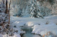 Michael Godfrey, Winter's Pageantry, oil painting at Western ...