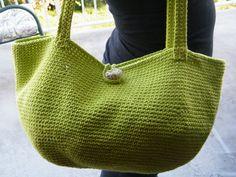 Handbag, purse, beach bag, tote, cotton, Handmade Crochet Bag, Lime Green, cotton, ready to ship now. de KoyaKreations en Etsy https://www.etsy.com/es/listing/187883556/handbag-purse-beach-bag-tote-cotton