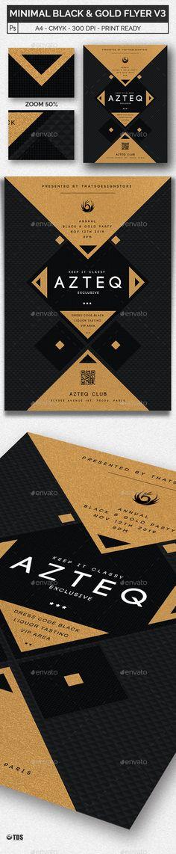Minimal Black and Gold Flyer Template V3