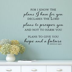 Found it at Wayfair - Plans to Give You Hope and a Future Wall Decal