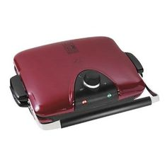 Great for burgers and hot dogs when unable to cook on the outdoor grill. George Foreman-in RED, of course!