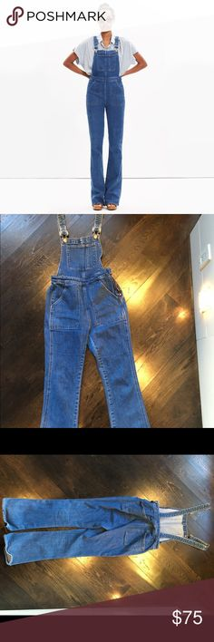 Madewell Madewell overalls with wide leg. Size small PETITE.! In great condition and super cute . Madewell Pants Jumpsuits & Rompers