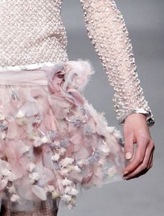 Chanel silver and pink details.