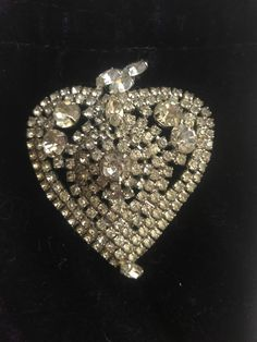 Excited to share the latest addition to my #etsy shop: Amazing Large Vintage Rhinestone Heart  Brooch Hollywood Style #jewelry #brooch #valentines-day