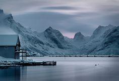 beautiful snowy mountains