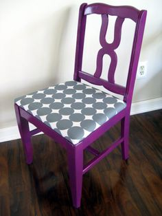 love the purple chair