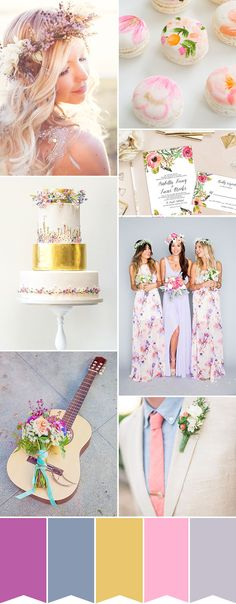 Summer Sun Colour Palette | See more wedding inspiration at www.onefabday.com
