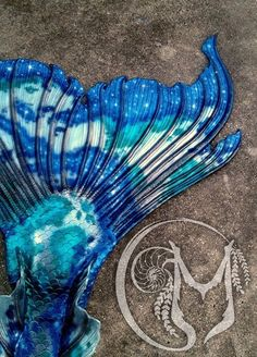 "Merbella Studios inc - silicone realistic mermaid tail - ""midnight koi"""