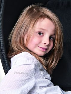 Long layered hairstyle for little girls with fine hair hairstyle for