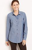 A beautiful and versatile top for Spring. everyday chambray shirt from J.Jill