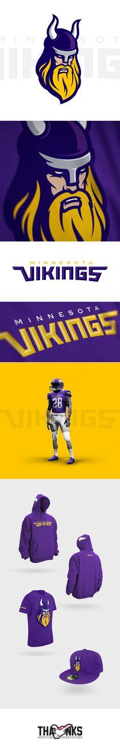 Minnesota Vikings - American Football Team Rebrand Concept by Miika Kumpulainen