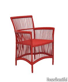 Featured in House Beautiful, the Maui chair will stand up to weather as well as the discerning eye of your guests! Made from powder-coated aluminum with resin, the Maui chair is available in an assortment of colours. Outdoor Dining Chairs, Outdoor Lounge, Outdoor Spaces, Outdoor Decor, Cane Sofa, Cool Furniture, Outdoor Furniture, Rattan, Home Furnishings