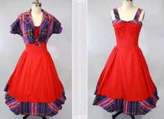 1960s Vintage Sundress with Matching Jacket by NobleSavageVintage, $135.00