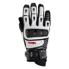 Knox Orsa Leather Motorcycle Gloves White - playwellbikers.co.uk - http://playwellbikers.co.uk/gloves/knox-orsa-leather-motorcycle-gloves-white/