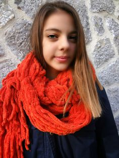 Little Treasures: No Knit Just Sew: Drape Scarf Tutorial