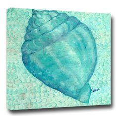 Aqua Shell Giclee Wall Art