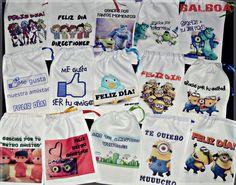 Bolsas de Tela para presentar tus Regalos en el Día del Amigo 15x20cm Se venden por unidad!