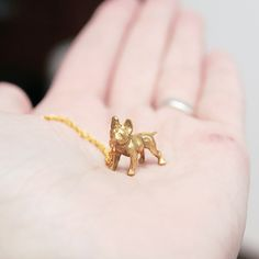 Tiny French Bulldog necklace / collier Verameat at Bird on the wire www.botw.fr