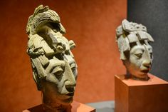 Toltec Busts, Archeology Museum, Mexico City
