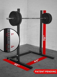 Standing six-feet high with a footprint, the American-made Squat Stand is a compact squat rack that gives up nothing in quality. Visit Rogue to order yours. Squat Stands, Overhead Press, Pull Up Bar, Garage Gym, Custom Packaging, Garage Ideas, Powerlifting, Rogues, Welding