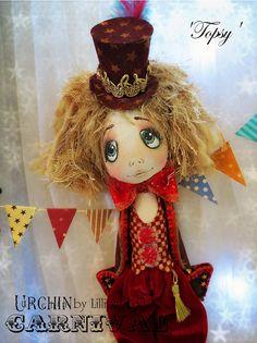 Art Doll OOAK  Urchin Carnival Collection  Topsy by lilliputloft