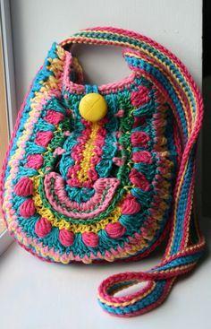 Crochet pattern crochet bag pattern crochet color by LuzPatterns