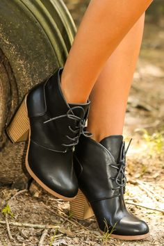 Word On The Street Booties-Black - New Today | The Red Dress Boutique