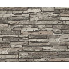 A.S. Creation AS Creation Slate Brick Wall Pattern Faux Effect Embossed Vinyl Wallpaper 958331