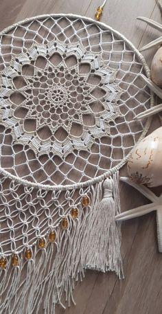 Crochet Dreamcatcher, Crochet Mandala, Crochet Doilies, Crochet Stitches, Dream Catcher Patterns, Dream Catcher Decor, Dream Catcher Boho, Doily Patterns, Crochet Patterns