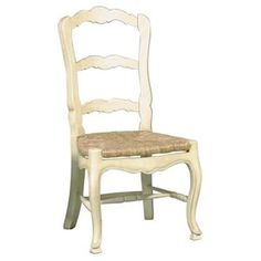 Furniture Classics LTD French Country Ladderback Side Chair (Set of Finish: Antique Oyster Cottage Furniture, Rustic Country Furniture, Rustic Furniture, French Side Chairs, Rustic Dining Chairs, Furniture, French Furniture, French Decor, French Country Furniture