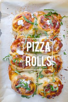Turn store bought pizza dough into a quick weeknight dinner. These pizza rolls are like cinnamon rolls but PIZZA!  Find the recipe at Shutterbean.com