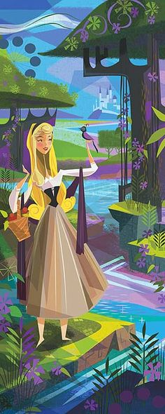"""The Caressing Forest"" by Mark Swanson | Disney Fine Art | Disney's Sleeping Beauty"