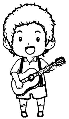 guitar hero coloring pages - photo#45