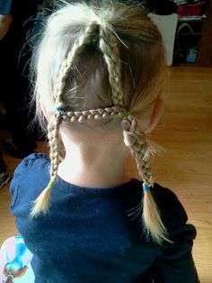 "Alphabet hair...braid each letter in childs hair ""A"" is easist."