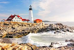20 Places to Visit on the Ultimate American Road Trip via @mydomaine: Portland Head Light, Cape Elizabeth, Maine