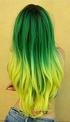 Fantastic Ombre Hair Color Ideas You Should Try This Summer; Ombre Hair Color In Summer; Pretty Hair Color, Green Hair Colors, Hair Color Purple, Hair Dye Colors, Blue Hair, Lilac Hair, Pastel Hair, Gray Hair, Green Hair Streaks