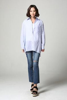 Striped Long Shirt NB-S