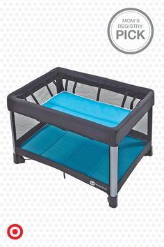 The 4moms Breeze play yard is fully equipped for a night away from home. It's easy to use—opening and closing in just one step, and features a bassinet for infants, a portable changing pad and convenient travel bag. It's the perfect way to simplify traveling with Baby.