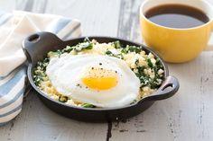 Healthy Egg-Topped Breakfast Hash Recipe