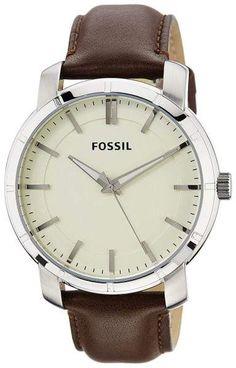 4b8b9ca6654 Fossil BQ1285 Stainless Steel   Leather Quartz 46mm Mens Watch Relógios De  Segunda Mão