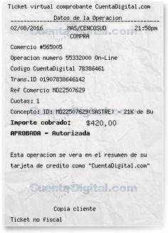 Cupon de pago CuentaDigital.com