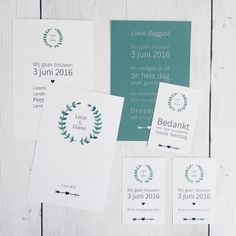 Weddingstationery • Save the date • Trouwkaart • studiosproet.com