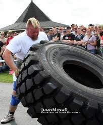 A lot of body builders train for the World's strongest Man's competition. The competition involves a lot of training for them. It is held every year in different parts of the world.