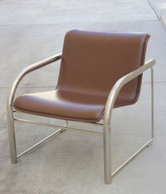 Pair of Richard Schultz Leather and Chrome RS48 Lounge Chairs | From a unique collection of antique and modern lounge chairs at http://www.1stdibs.com/furniture/seating/lounge-chairs/