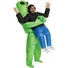 [Mens Halloween Costumes] Alien Pick Me Up Inflatable Blow Up Costume Costume - One size fits most >>> Click image for more details. (This is an affiliate link) Costumes Alien, Alien Cosplay, Monster Costumes, Up Costumes, Adult Costumes, Costumes For Women, Cosplay Costumes, Costume Ideas, Family Costumes