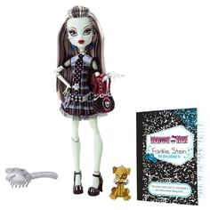 Amazon.com: Monster High Frankie Stein Doll with Watzit pet: Toys & Games